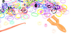 Loom band Bracelets Royalty Free Stock Photo