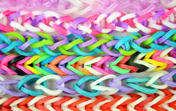 Loom band Bracelets Stock Image