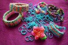 Loom band craft Royalty Free Stock Image