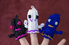 Loom band ghosts Royalty Free Stock Image