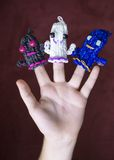 Loom band ghosts Stock Photography