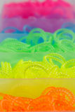 Loom bands in box Royalty Free Stock Photo