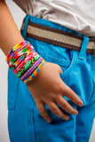 Loom bands bracelet Royalty Free Stock Images