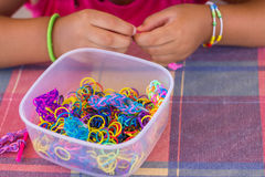 Loom bands hobby Stock Photos