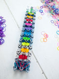 Loom bands and loom Royalty Free Stock Photos