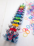 Loom bands and loom Stock Photos