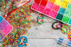 Loom bands Royalty Free Stock Photography