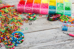 Loom bands tool Royalty Free Stock Photo