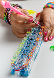 Loom bracelet Royalty Free Stock Images