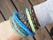 Loom bracelets Stock Photography