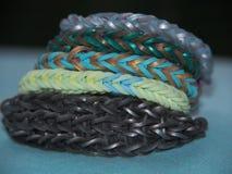 Loom bracelets Stock Images