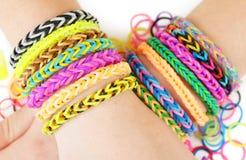 Loom bracelets Royalty Free Stock Photo
