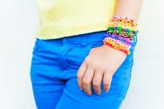 Loom bracelets Stock Photos