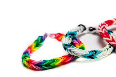 Loom bracelets Royalty Free Stock Images