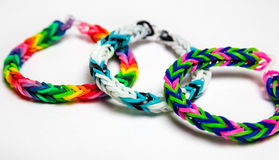 Loom bracelets Royalty Free Stock Photos