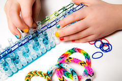 Loom bracelets Stock Photo