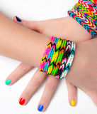 Loom bracelets Stock Photography