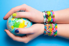 Loom bracelets Stock Photos