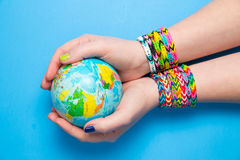 Loom bracelets Stock Images