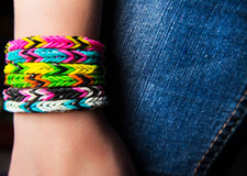 Loom bracelets Royalty Free Stock Image