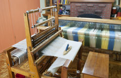 Loom, craft room , old textile techniques Royalty Free Stock Image