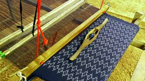The loom for make a Thai fabric. Royalty Free Stock Image