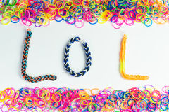Loom rubber band Letter Royalty Free Stock Image