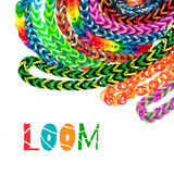 Loom rubber bands bracelets Stock Image