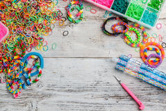 Loom rubber bands Stock Photos