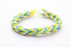 Loom rubber bracelets Stock Photo