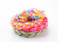 Loom rubber bracelets Stock Photos
