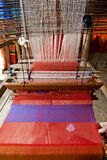 Loom, textiles by hand Royalty Free Stock Photography