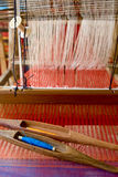 Loom, textiles by hand Royalty Free Stock Photo