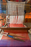 Loom, textiles by hand Stock Images
