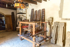 Loom with threads in monastery,Crete, Greece Stock Photos