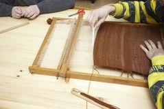 Loom tool textile handmade craft Stock Photo