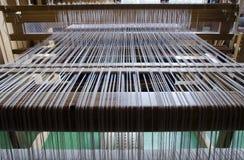 Loom with warp Royalty Free Stock Photos