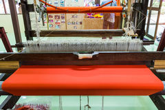 Loom for weaving silk. Stock Images