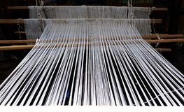 Loom for wool stock photos