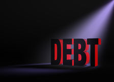 Looming Debt Stock Images