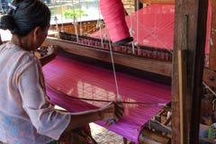Looming ,  inle lake in Myanmar (Burmar) Royalty Free Stock Image
