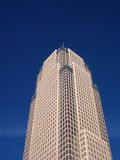 Looming Skyscraper II. Key Tower in Cleveland, Ohio, looming overhead royalty free stock photos