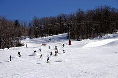Loon Mountain Ski Resort. New Hampshire skiing Stock Photography