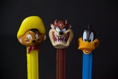 Looney Tunes Pez Dispensers stock photography