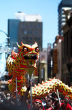 Loong dance. In China town of melbourne Royalty Free Stock Image