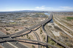Loop 202 and the Loop 101 interchange looking West Royalty Free Stock Image