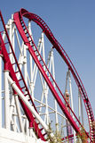 Loop. Photo of a loop of a roller coaster Royalty Free Stock Images