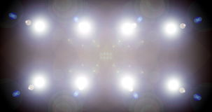 Loop-able flashing disco stage lights, White. Could be used on a big screen within a stadium or arena, In Stunning 4K. stock video