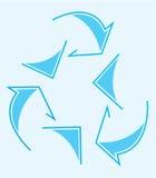 Loop arrow. Blue arrow loop on soft blue background Royalty Free Stock Photos