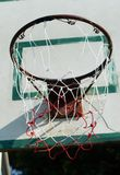 The loop, and the basketball hoop damaged stock images